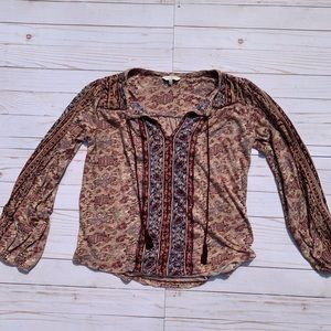 Lucky Brand Blouse with Ties